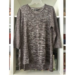 Cable & Gauge brown marbled knit, size XL